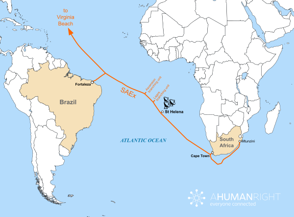 St Helena On World Map.St Helena Signs Mou For Link To South Atlantic Express Cable Set To